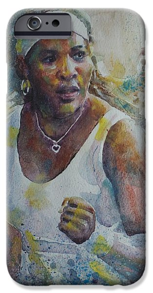 Serena Williams - Portrait 5 IPhone 6s Case by Baresh Kebar - Kibar