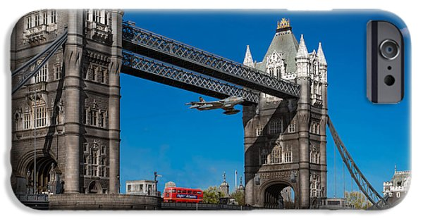 IPhone 6s Case featuring the photograph Seven Seconds - The Tower Bridge Hawker Hunter Incident  by Gary Eason