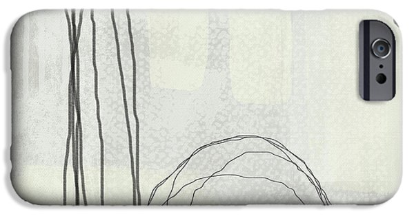 Contemporary iPhone 6s Case - Shades Of White 3 - Art By Linda Woods by Linda Woods