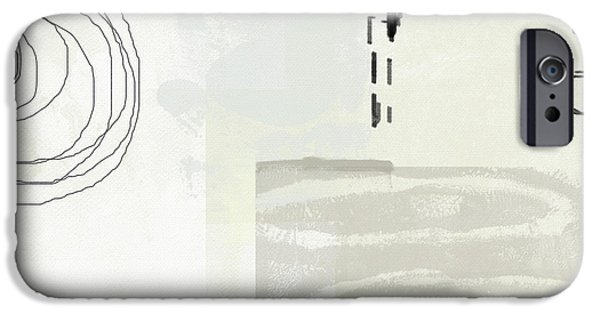 Contemporary iPhone 6s Case - Shades Of White 4- Art By Linda Woods by Linda Woods