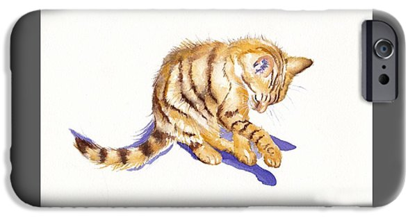 Cat iPhone 6s Case - Shadow Boxing by Debra Hall