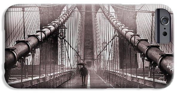 Brooklyn Bridge iPhone 6s Case - Shadow Man by Az Jackson