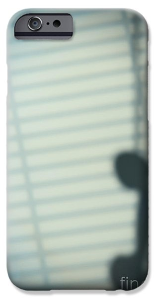 Shadow Of Telephone Receiver IPhone Case by Amanda And Christopher Elwell