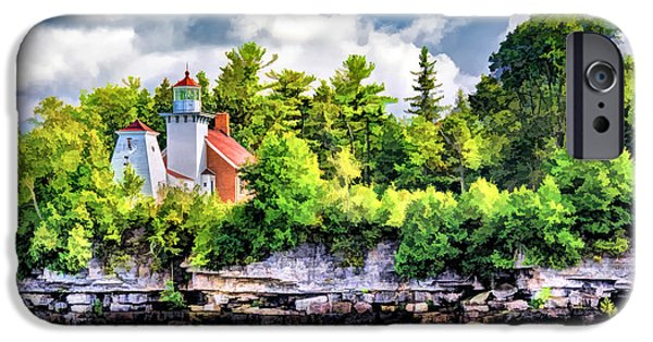 IPhone 6s Case featuring the painting Sherwood Point Lighthouse by Christopher Arndt