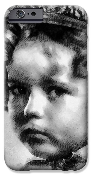 Shirley Temple iPhone 6s Case - Shirley Temple Vintage Actress by Frank Falcon
