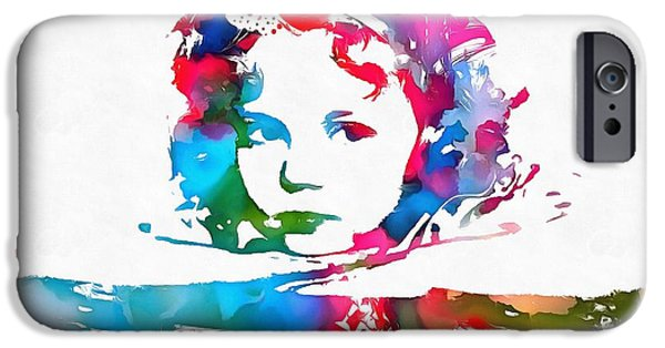 Shirley Temple iPhone 6s Case - Shirley Temple Watercolor Paint Splatter by Dan Sproul