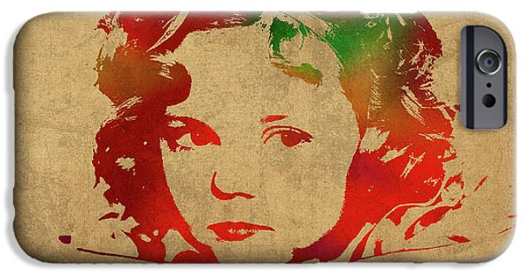 Shirley Temple iPhone 6s Case - Shirley Temple Watercolor Portrait by Design Turnpike