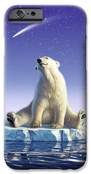 Polar Bear iPhone 6s Case - Shooting Star by Jerry LoFaro