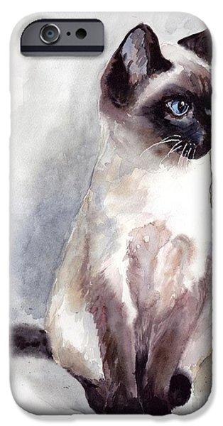 Fairy iPhone 6s Case - Siamese Kitten Portrait by Suzann's Art