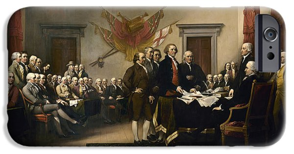 Politicians iPhone 6s Case - Signing The Declaration Of Independence by War Is Hell Store