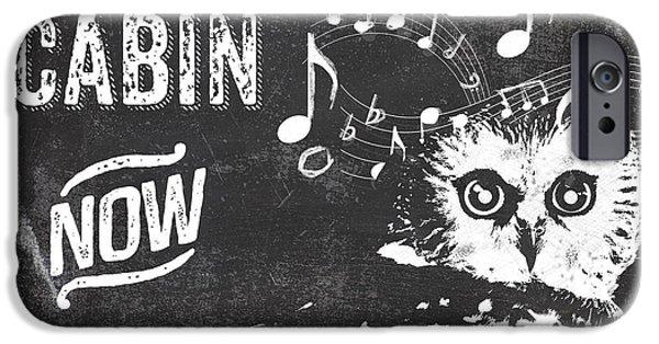 Singing Owl Cabin Rustic Sign IPhone 6s Case