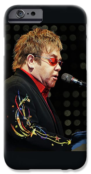 Sir Elton John At The Piano IPhone 6s Case by Elaine Plesser