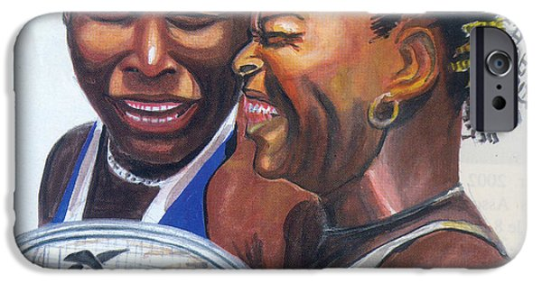 Venus Williams iPhone 6s Case - Sisters Williams by Emmanuel Baliyanga