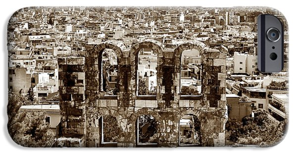Six Arches In Athens IPhone Case by John Rizzuto