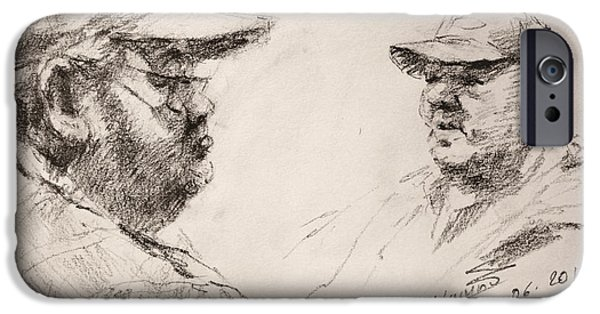 Pencil iPhone 6s Case - Sketch Man 10 by Ylli Haruni