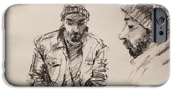 Pencil iPhone 6s Case - Sketch Man 13 by Ylli Haruni
