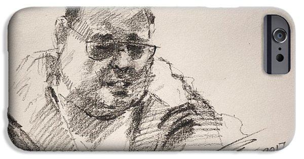 Pencil iPhone 6s Case - Sketch Man 14 by Ylli Haruni