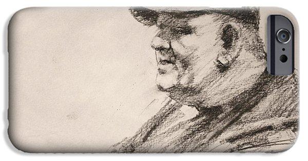 Pencil iPhone 6s Case - Sketch Man 15 by Ylli Haruni