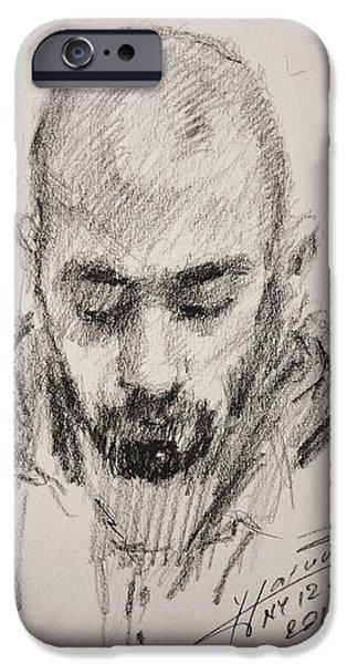 Pencil iPhone 6s Case - Sketch Man 16 by Ylli Haruni