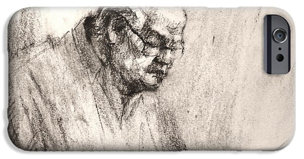 Pencil iPhone 6s Case - Sketch Man 17 by Ylli Haruni