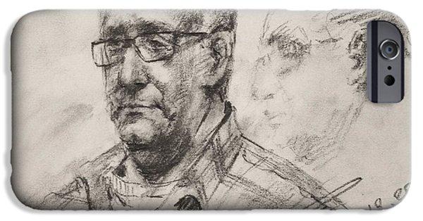 Pencil iPhone 6s Case - Sketch Man 18 by Ylli Haruni