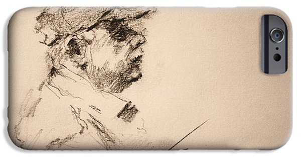 Pencil iPhone 6s Case - Sketch Man 19 by Ylli Haruni