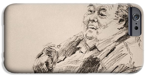 Pencil iPhone 6s Case - Sketch Man 20 by Ylli Haruni