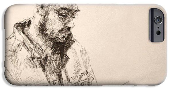 Pencil iPhone 6s Case - Sketch Man 9 by Ylli Haruni