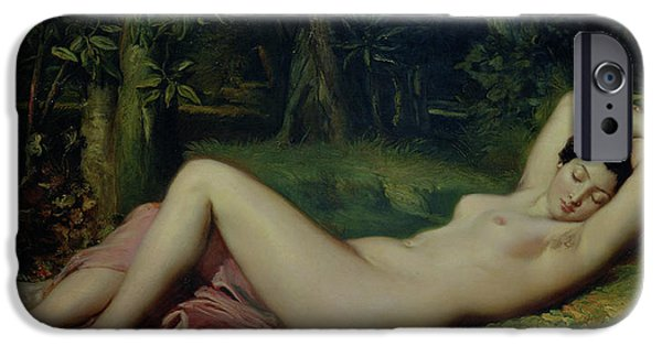 Sleeping Nymph IPhone Case by Theodore Chasseriau