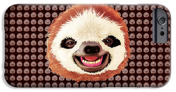 Slothy IPhone Case by Rene Lopez