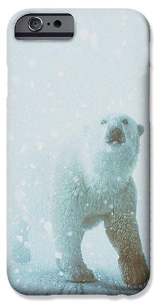Polar Bear iPhone 6s Case - Snow Patrol by Katherine Smit
