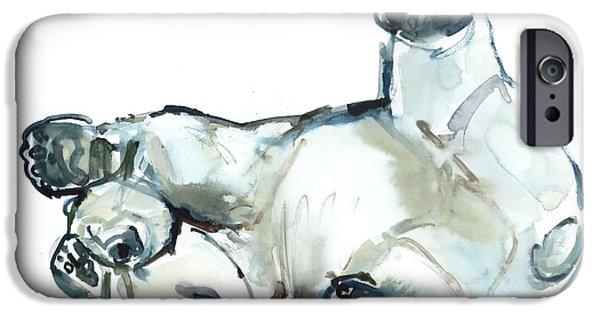 Bear iPhone 6s Case - Snow Rub by Mark Adlington