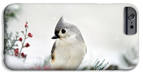 Snow White Tufted Titmouse IPhone 6s Case