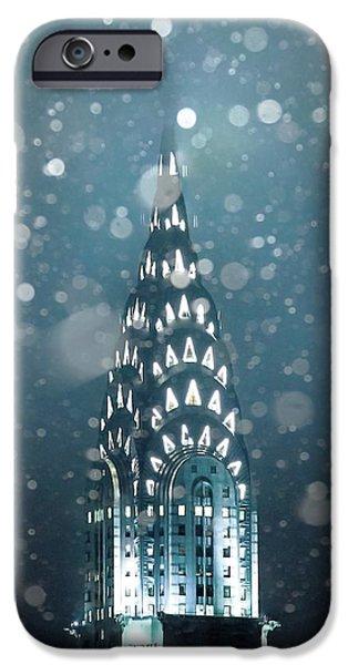 Chrysler Building iPhone 6s Case - Snowy Spires by Az Jackson