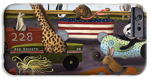 Meerkat iPhone 6s Case - Soap Box Derby by Leah Saulnier The Painting Maniac