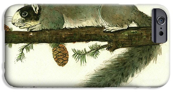 Squirrel iPhone 6s Case - Southern Fox Squirrel  by Juan Bosco