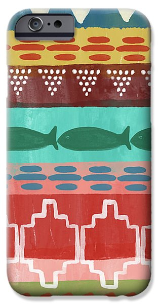 Peach iPhone 6s Case - Southwest With Fish- Art By Linda Woods by Linda Woods