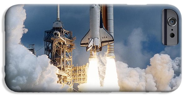Space Ships iPhone 6s Case - Space Shuttle Launching by Stocktrek Images
