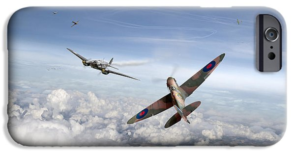 IPhone 6s Case featuring the photograph Spitfire Attacking Heinkel Bomber by Gary Eason