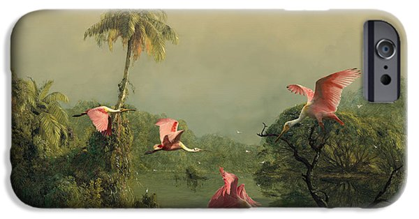 Spoonbills In The Mist IPhone 6s Case by Spadecaller