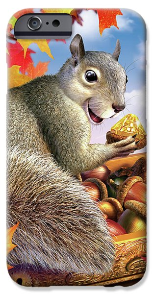 Squirrel iPhone 6s Case - Squirrel Treasure by Jerry LoFaro