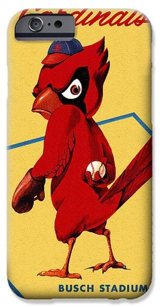 St. Louis Cardinals Vintage 1956 Program IPhone 6s Case