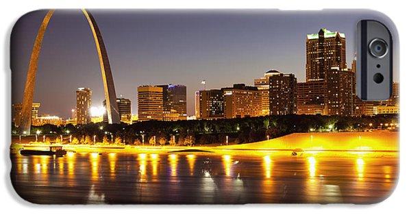 St Louis Skyline IPhone Case by Bryan Mullennix