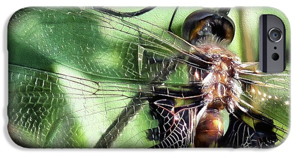 IPhone 6s Case featuring the digital art Stained Glass Dragonfly by JC Findley