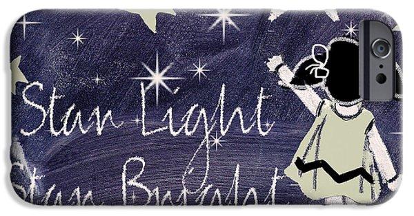 Star Light Star Bright Chalk Board Nursery Rhyme IPhone 6s Case