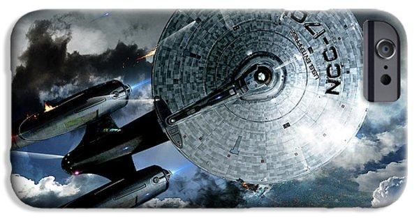 Star Trek Into Darkness, Original Mixed Media IPhone 6s Case by Thomas Pollart