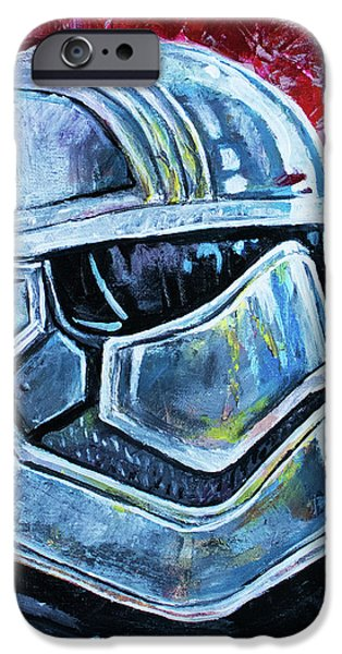 IPhone 6s Case featuring the painting Star Wars Helmet Series - Captain Phasma by Aaron Spong