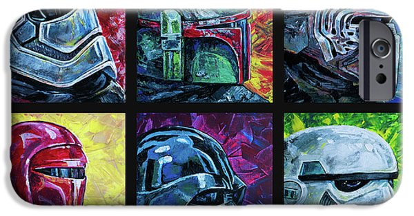 IPhone 6s Case featuring the painting Star Wars Helmet Series - Collage by Aaron Spong