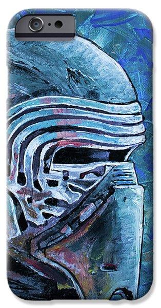 IPhone 6s Case featuring the painting Star Wars Helmet Series - Kylo Ren by Aaron Spong