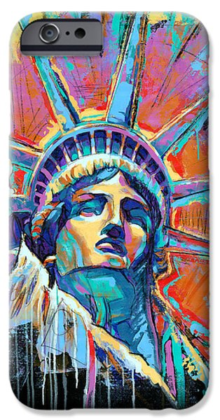 New York City iPhone 6s Case - Statue Of Liberty New York Art Usa by Damon Gray